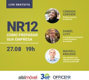 """Intersind realiza live com o tema """"NR12 – Como preparar a sua empresa"""""""