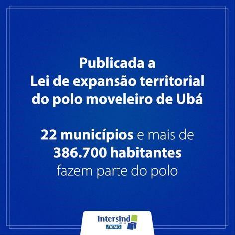 Publicada a Lei de expansão territorial do polo moveleiro de Ubá
