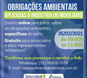Intersind apresenta principais obrigações ambientais para o Polo Moveleiro de Ubá